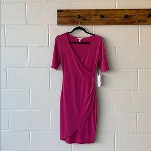 Leith Leith Purple Orchid Wrap Dress size s